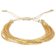 Load image into Gallery viewer, Gold Strand Miyuki Seed Bracelet