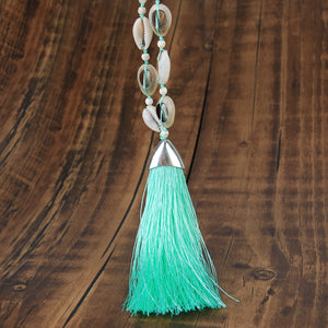 Tuent Cowrie Necklace - Mint Green