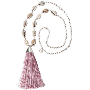 Tuent Cowrie Necklace - Dusky Rose