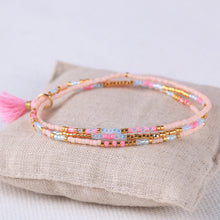 Load image into Gallery viewer, Pretty in Pink Miyuki Bead Bracelet