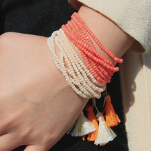 Load image into Gallery viewer, Apricot Strand Tassel Bracelet