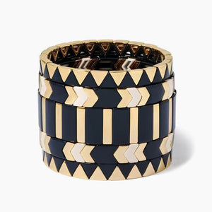 5 piece Enamel Stacking Bracelet