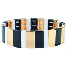 Load image into Gallery viewer, 5 piece Enamel Stacking Bracelet