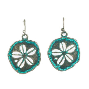 Ethnic Sand Dollar Earrings