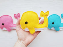 Load image into Gallery viewer, Dog Toys - Whale - Plush Toy with Squeaker