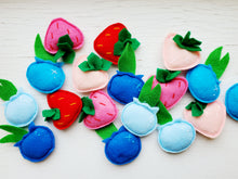 Load image into Gallery viewer, Cat Toys - Strawberry - Organic Catnip and bells