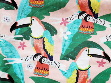 Pet Bed - Tropical Tucan Print
