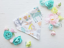 Load image into Gallery viewer, Woodland Furiends Bandanna - Small - Slips on Collar
