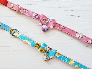 Floral Cat Collar w/ bell