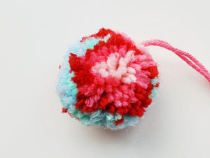 Cat Ball Toy - Floral Pompom - Organic Catnip and Bell