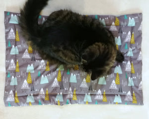 Pet Bed - Meowtains Print