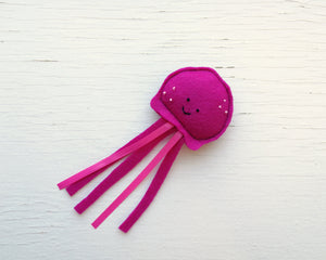 Cat Toys - Jellyfish - Organic Catnip and bells inside