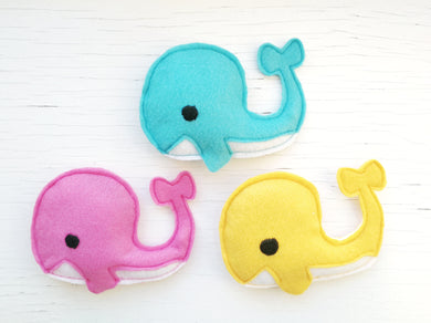 Cat Toys - Whale - Organic Catnip and Bells inside