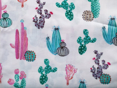 Pet Bed - Pretty Cacti Print