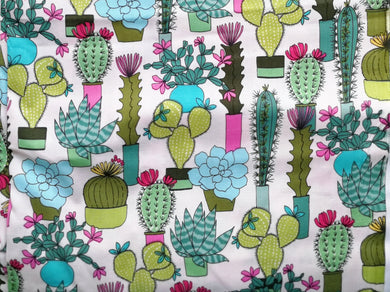 Pet Bed - Cactus Garden Print