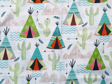 Pet Bed -Teepees and Cacti Print