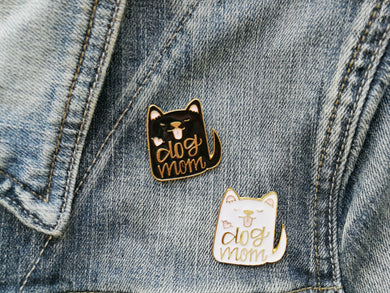 Enamel Dog Mom Pins