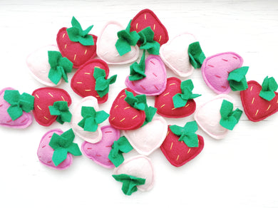 Cat Toys - Strawberry - Organic Catnip and bells