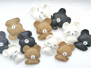 Cat Toys - Pocket Bears - Organic Catnip and bells inside