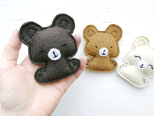 Load image into Gallery viewer, Cat Toys - Pocket Bears - Organic Catnip and bells inside