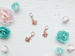 Pendant - Rose Gold Bee - With Rose Gold clasp