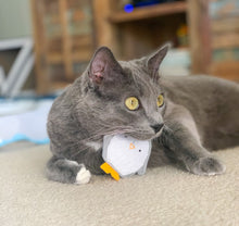 Load image into Gallery viewer, Cat Toys - Pocket Penguin - Organic Catnip and bells inside