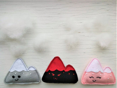Cat Toys - Mountain and Volcano - Organic Catnip and bells inside