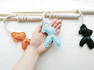 Cat Teaser Toys - Fishing Pole - Cat Wand Toy - Organic Catnip and bells