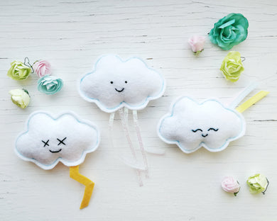 Cat Toys - Clouds - Organic Catnip and bells inside