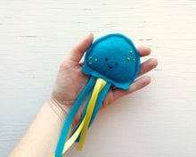Load image into Gallery viewer, Cat Toys - Jellyfish - Organic Catnip and bells inside