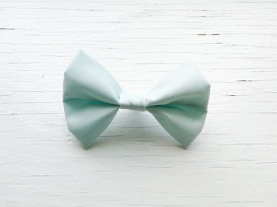 Pet Bow Tie - Baby Blue - Over the collar