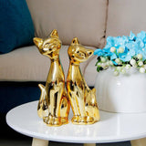 Statuette Chat  Amour d'Or