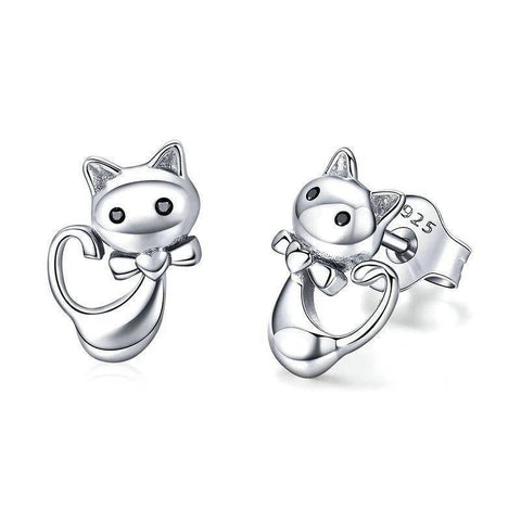 Boucles d'Oreilles Chat  Fille Adorable