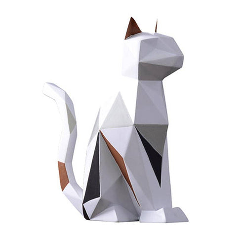 Statuette Chat  Modern Origami