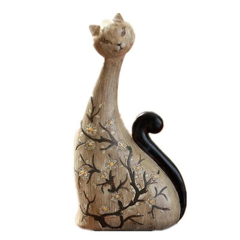 Statue Chat  Design de Bois