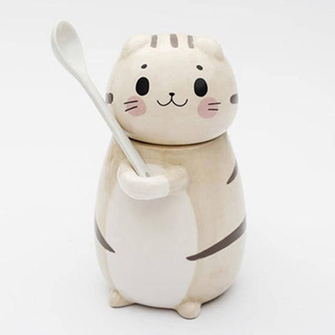 tasse chat porcelaine