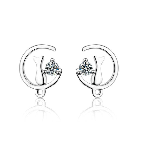 Boucles d'Oreilles Chat  On the Moon