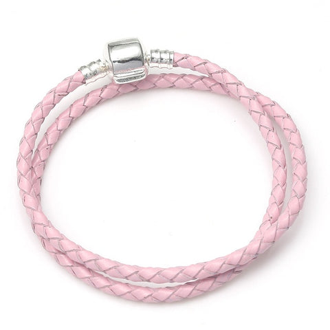 Bracelet Chat Cuir Double </br> Rose de Gourmandise