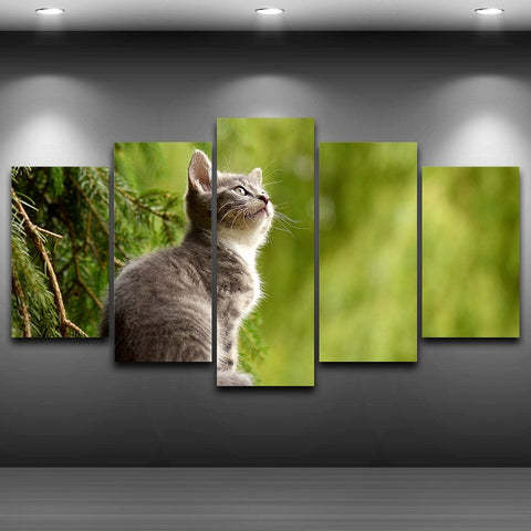 tableau photo chat et chaton mignon