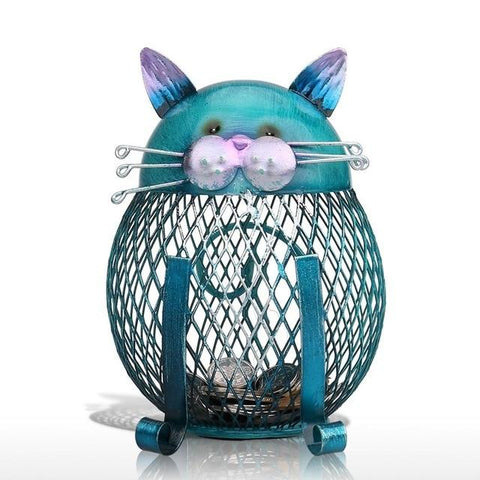 Tirelire chat design fer