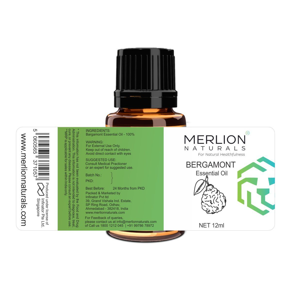Bergamont Essential Oil 12 ml