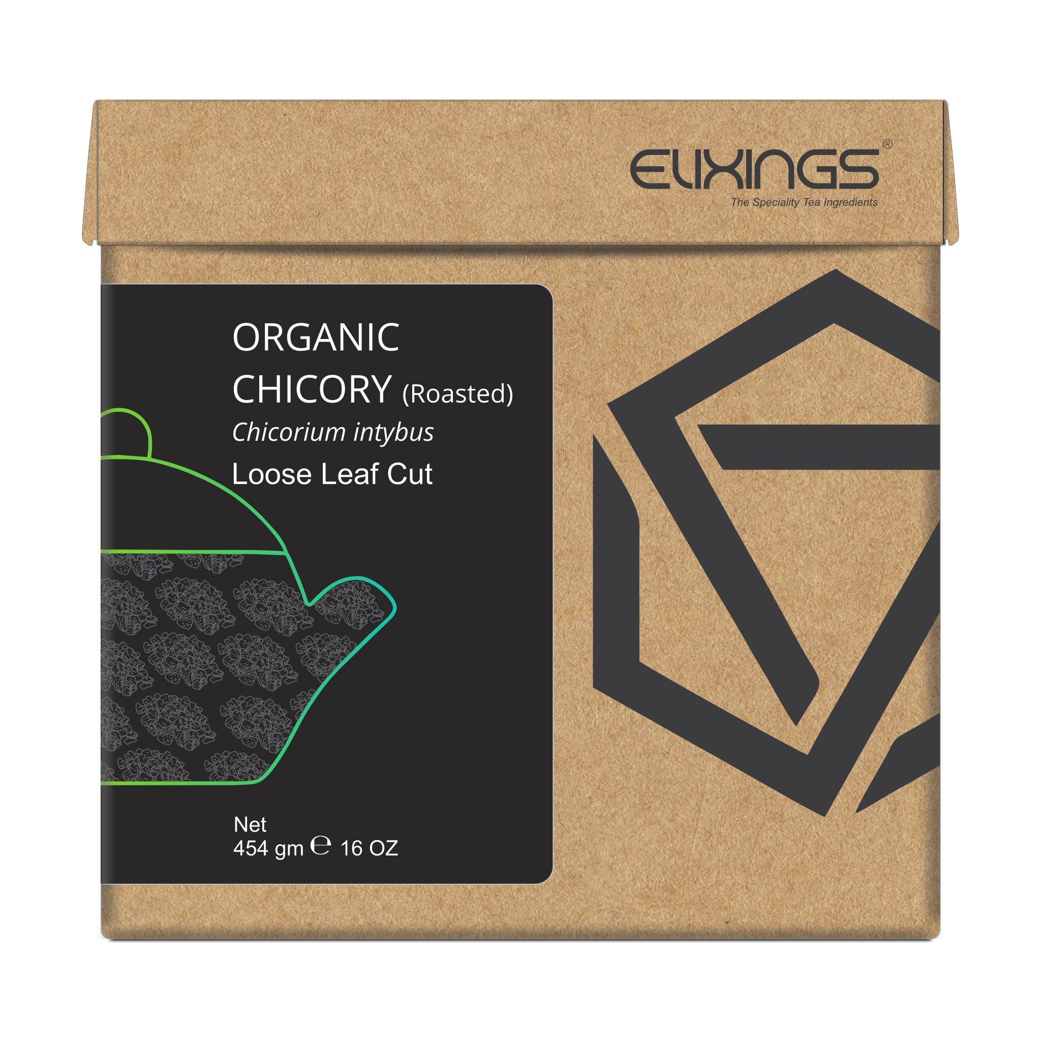 Organic Roasted Chicory Loose Leaf Cut
