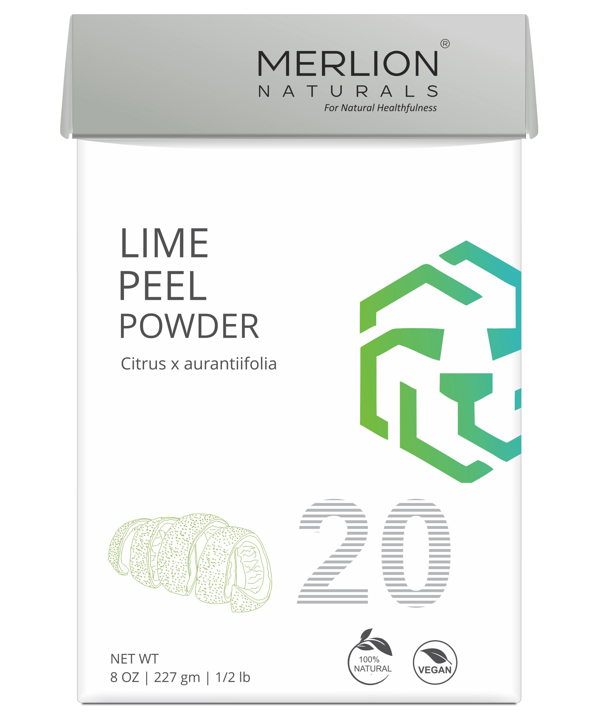 Lime Peel Powder | Citrus x aurantiifolia