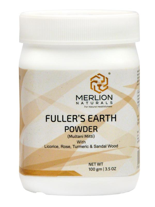 Fuller's Earth Powder | Multani Mitti with Sandal Wood, Turmeric, Licorice and Rose