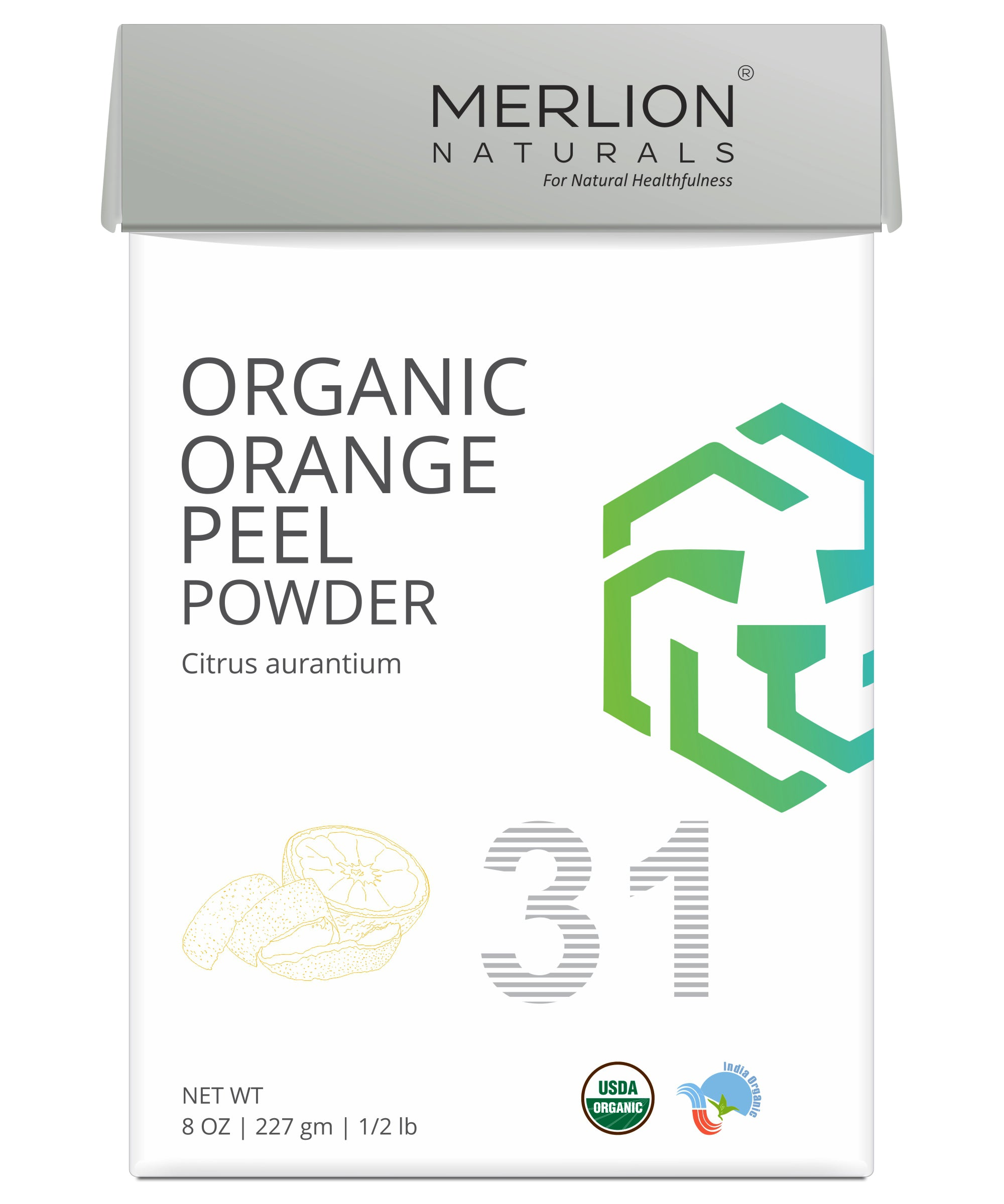 Organic Orange Peel Powder | Citrus aurantium