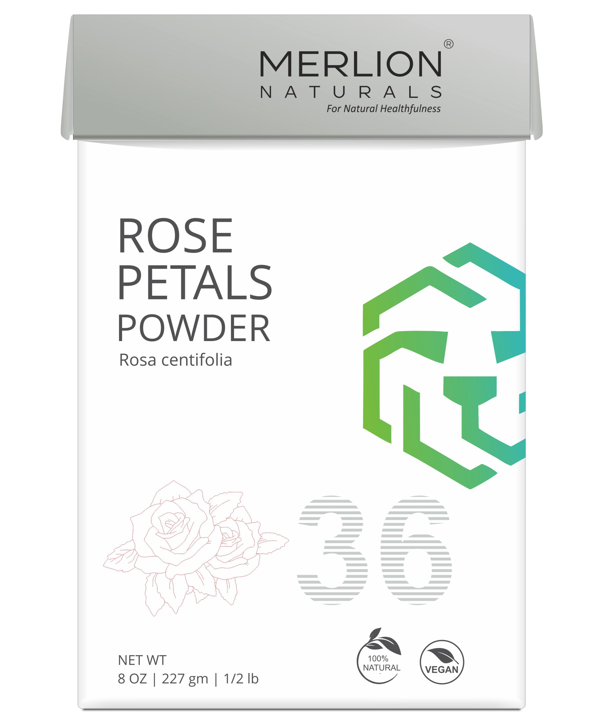 Rose Petals Powder | Rosa centifolia