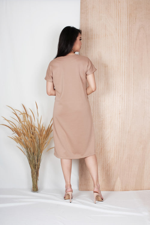 Alto Button Dress in Milo
