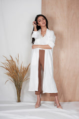 Eden Long Coat in White
