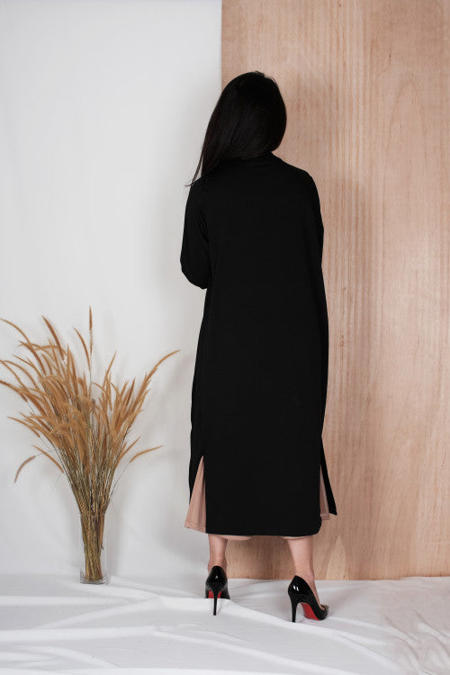 Eden Long Coat in Black
