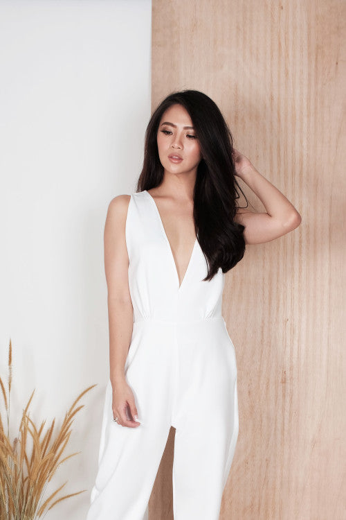 Opal Jumpsuit in White
